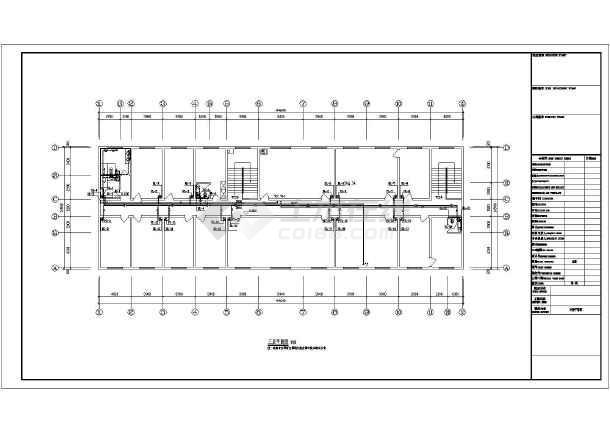 某小区三层砖混结构住宅楼太阳能设计图