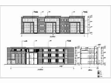 西安某3层框架幼儿园建筑设计施工图