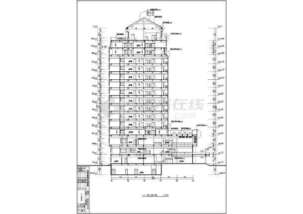 某地十六层图纸框架图纸建筑设计方案酒店_c规划局备案变更结构图片
