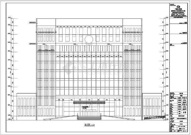 某地10层框剪结构办公楼建筑设计施工图