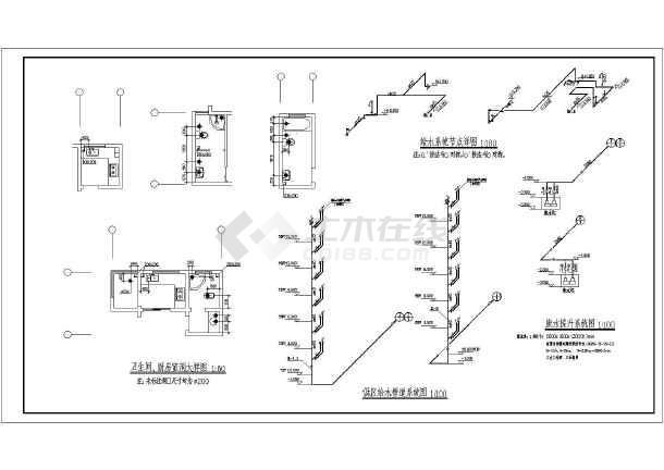 图纸包括:给排水设计施工说明,主要材料设备表,负一层给排水消防平面