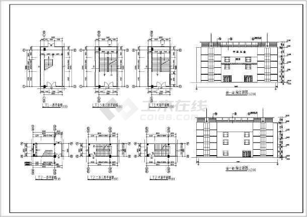 某地上三层框架结构厂房建筑施工图