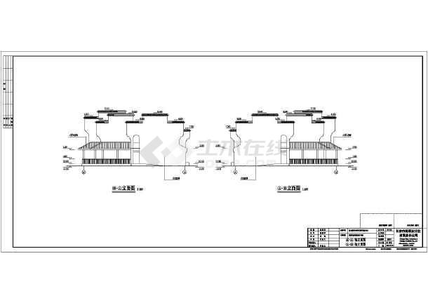 某地二层框架结构农庄客房楼建筑施工图