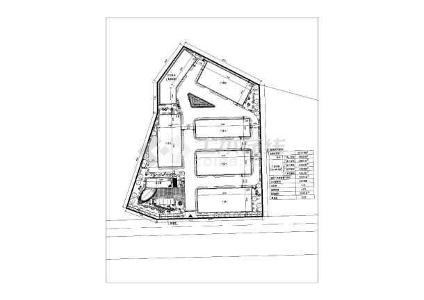 南方某企业厂区规划设计总平面布置图