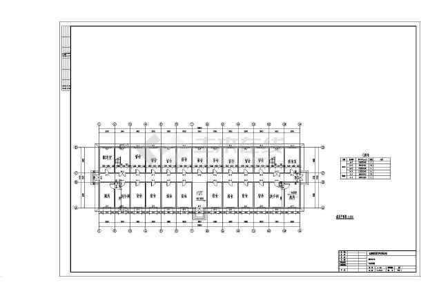 屋顶平面图• 课程设计• 平面图• 宿舍楼• 剖面