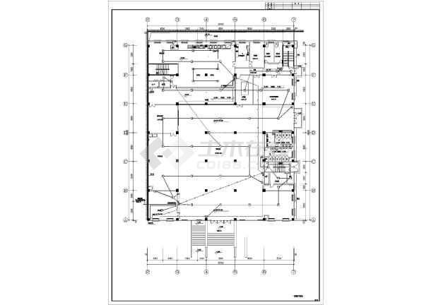 某9层办公楼集中控制型消防设计系统整体应急cad标注改灯具怎么图片