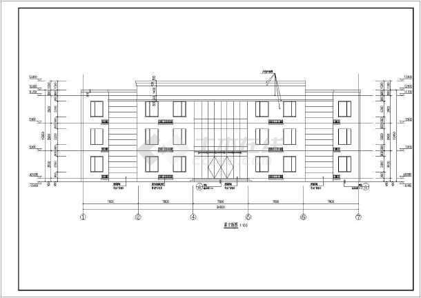 区三层结构家具办公楼建筑方案设计图_cad图cad框架平面块图下载家电图片