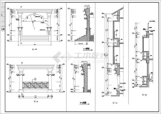 某三层别墅建筑设计图(长15.7米 宽8米)