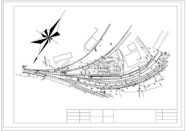某大型火车站加油库详细总建筑施工图图片1