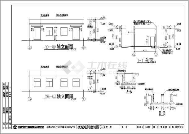 某地区水库净水厂工程设计图(含设计说明)