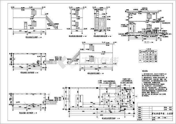 某处大样土建房屋结构图及苗木图v大样_cad图cad被自动生成表泵站地图片