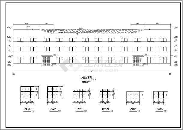 某地排架结构单层厂房结构设计施工图