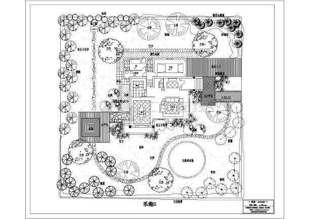 别墅私家花园景观设计图_cad图纸下载-土木在线