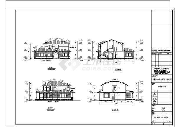 该为某小区多套欧式风格别墅建筑方案设计图,图纸内容包含:各层,屋顶