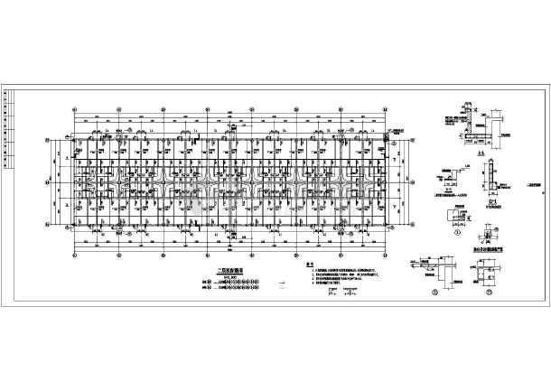 框架结构图纸 框架结构商场 重庆市广厦商城二期工程3层商铺结构施工