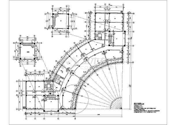某地四层框架结构沿街商业建筑设计施工图