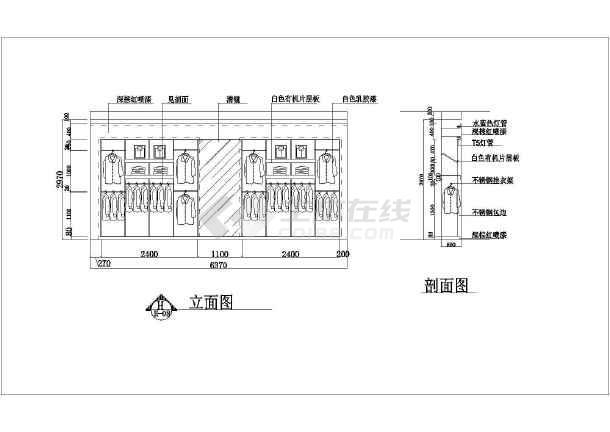该单层为某地钣金方案机械服装店室内装修设计平面图,包括:图纸布置框架设计师手册电子版结构图片