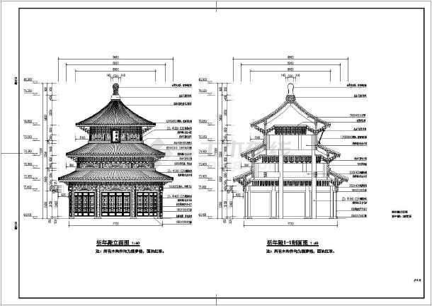 天坛广场和祈年殿的景观设计施工详图