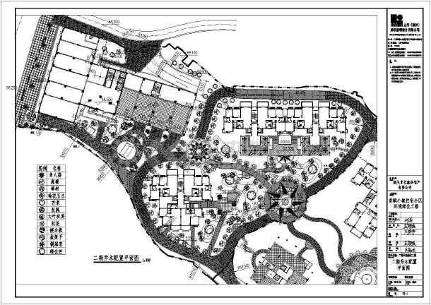 香槟环境住宅小区小城绿化工程施工图_cad图图纸施工设计交底图片