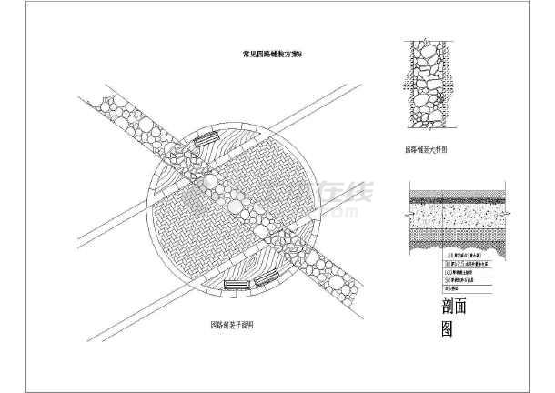 园林设计图 道路地面铺装