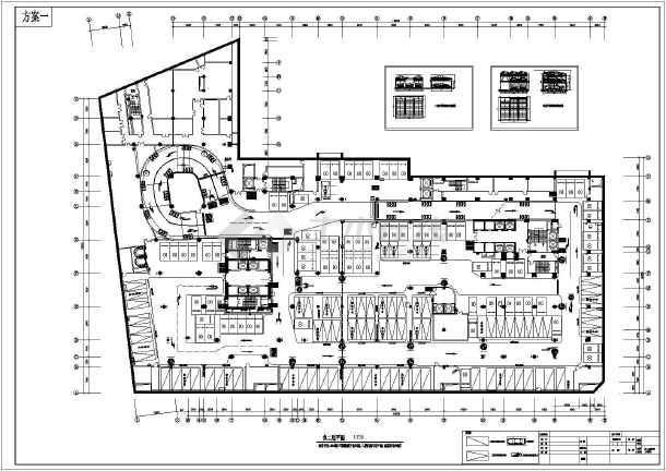 某酒店负二层机械式立体停车库建筑设计方案图纸图片