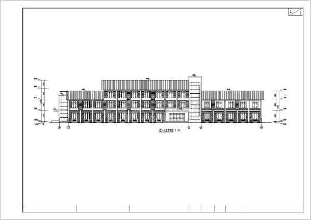某地区两栋三层宾馆建筑设计方案图