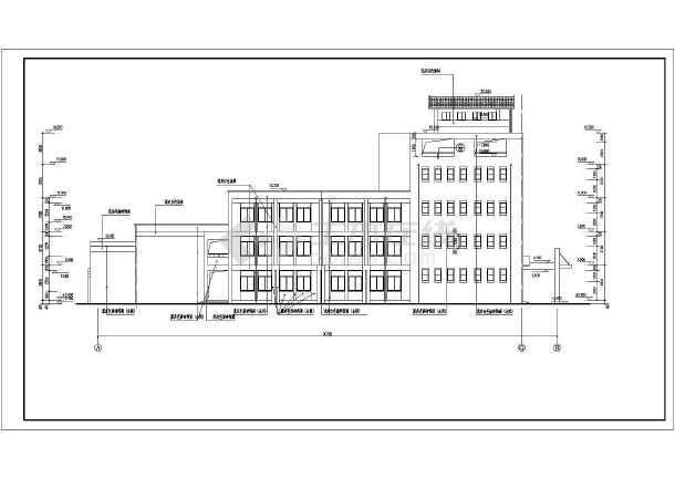 某城镇小学4层教学楼全套建筑施工图纸