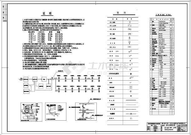 某河道取水喷灌水泵房设计施工平面图_cad图图纸电焊机械加工怎么看图片