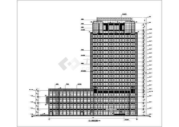 某地二十六层结构剪力墙图纸框架综合体建筑设100多方商业室内设计图片
