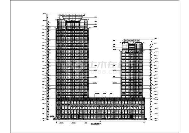 某地二十六层框架剪力墙结构商业综合体建筑设计方案