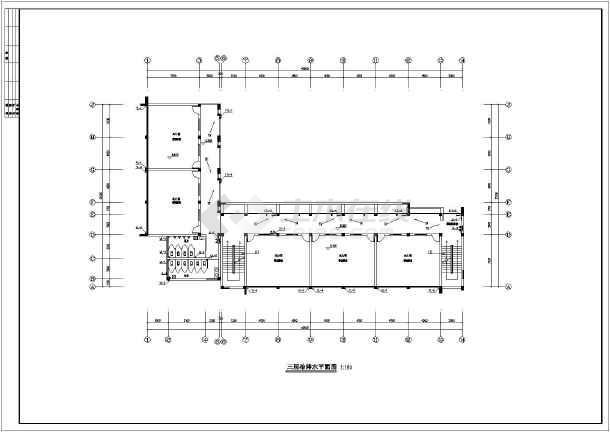 南方某地五层小学教学楼给排水设计图