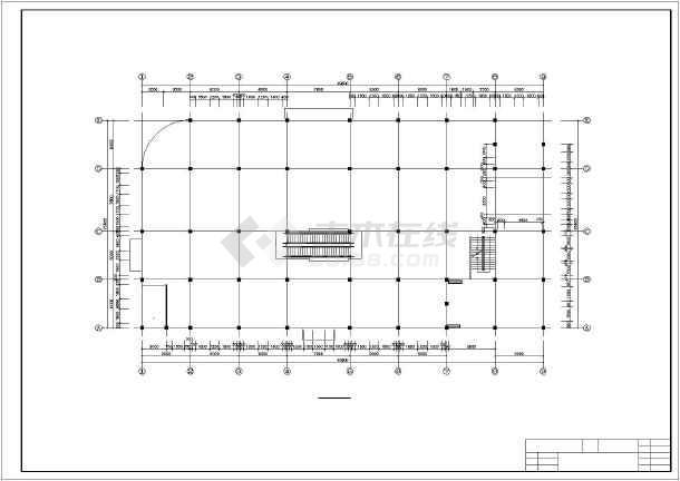 某地区多层框架结构商场建筑毕业设计图