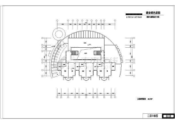 某地小型幼儿园建筑设计图(含效果图)
