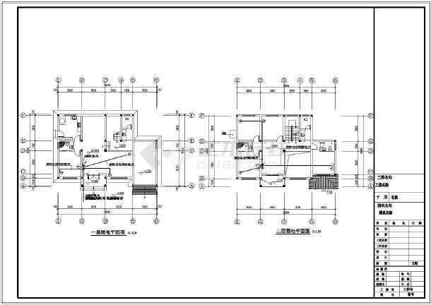 某三层楼别墅建筑设计施工图纸(含建筑,结构,电图,给排水图纸)