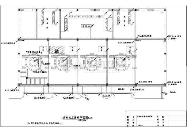 某水电站发电厂方结构布置及接地图