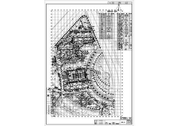 某居住小区园林绿化设计总平面图纸