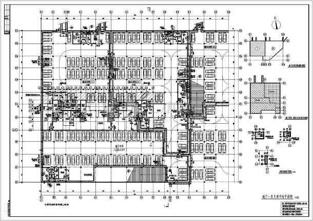 方案地下战时人防为人平面图(版本建筑掩)_ca天正2014的用能cad的车库cad图片