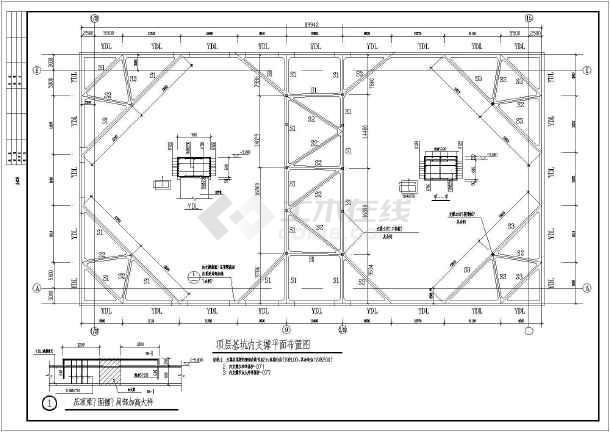 桩基础及基坑支护桩布置结构施工图