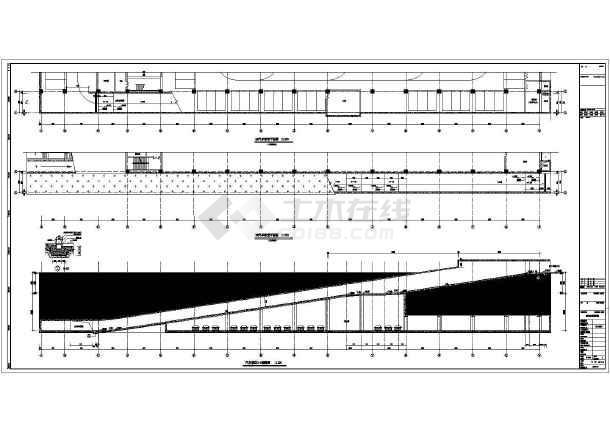 某地框架结构汽车坡道建筑设计施工图