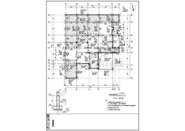 杭州某2层西班牙风格异形柱别墅结构施工图-图2