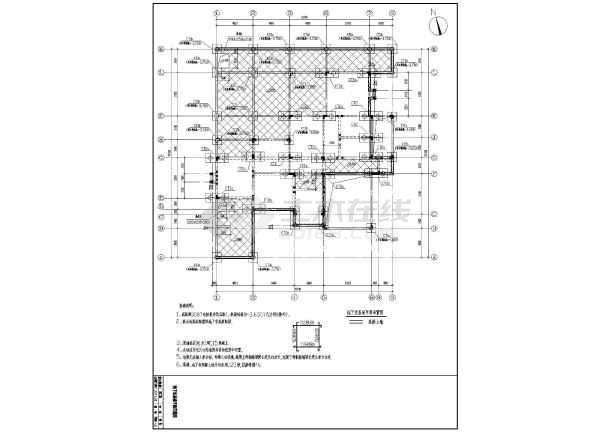 杭州某2层西班牙风格异形柱别墅结构施工图-图3