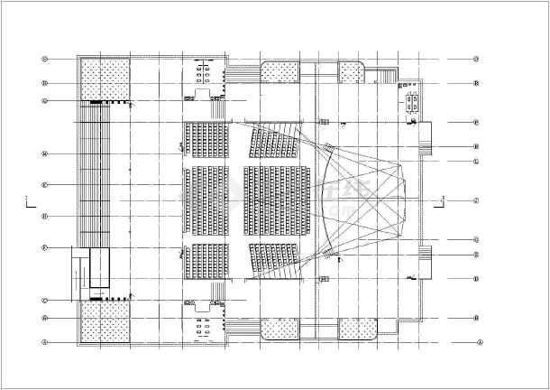 简介:本图纸是某电影院建筑施工图,其中主要包含:架空层平面图,舞台