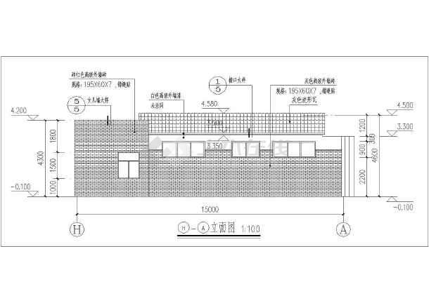 某地一层砖混结构城市公共厕所建筑设计方案图纸(cad图纸下载)