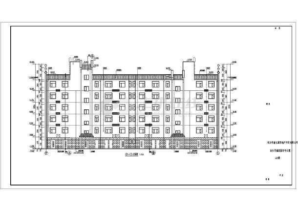 某地6层砌体结构老年公寓方案设计图纸