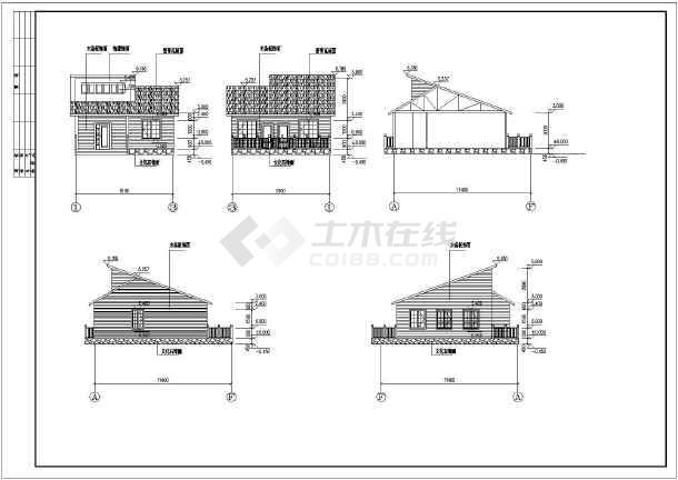【北京】某旅游度假生态园区单层木屋建筑结构施工图