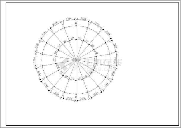 某工程12米跨度球壳网架全套结构施工图
