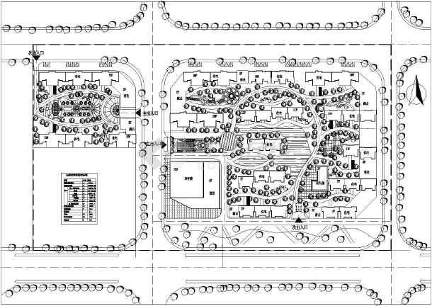 锦绣江南小区景观园林规划设计总平面图
