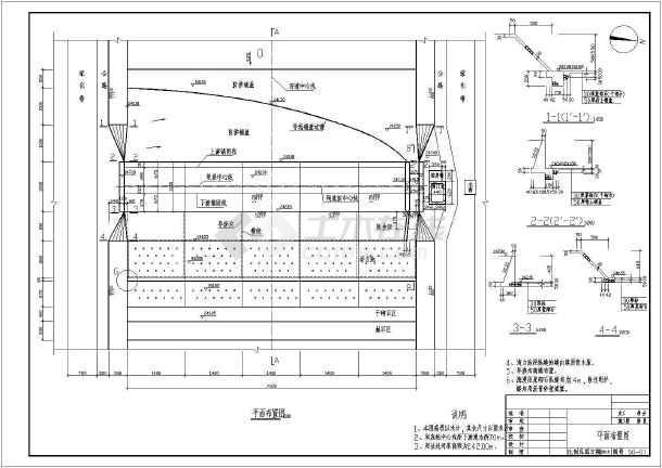 某地一橡胶坝全套水利工程设计图纸