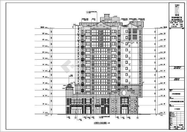 某13层框架剪力墙底商住宅建筑施工图