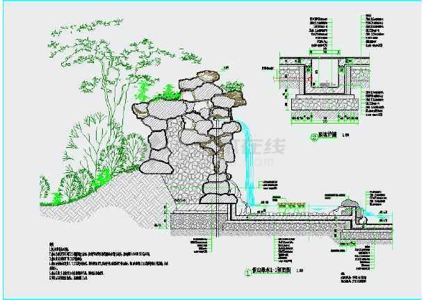 所属分类:假山置石 小区cad平面图